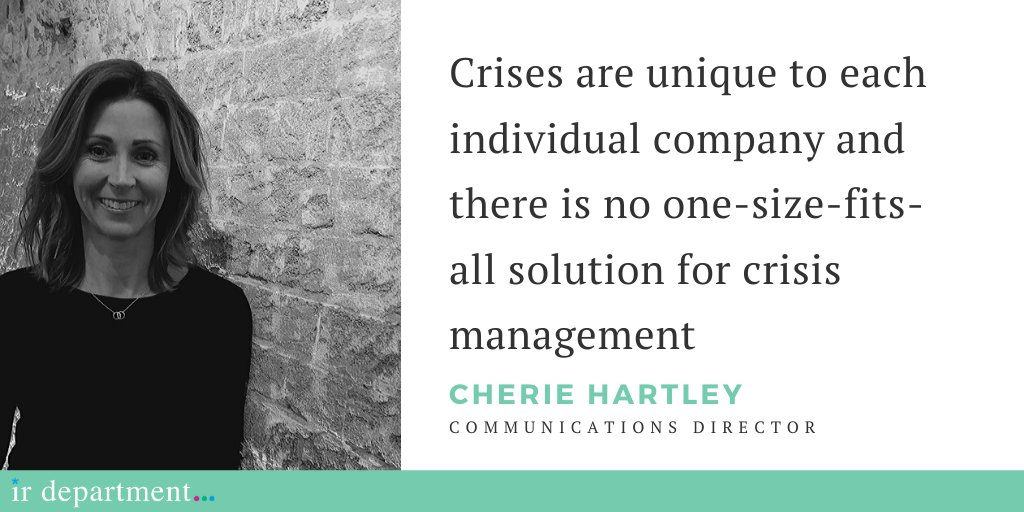 Cherie Hartley's ten steps to crisis communications